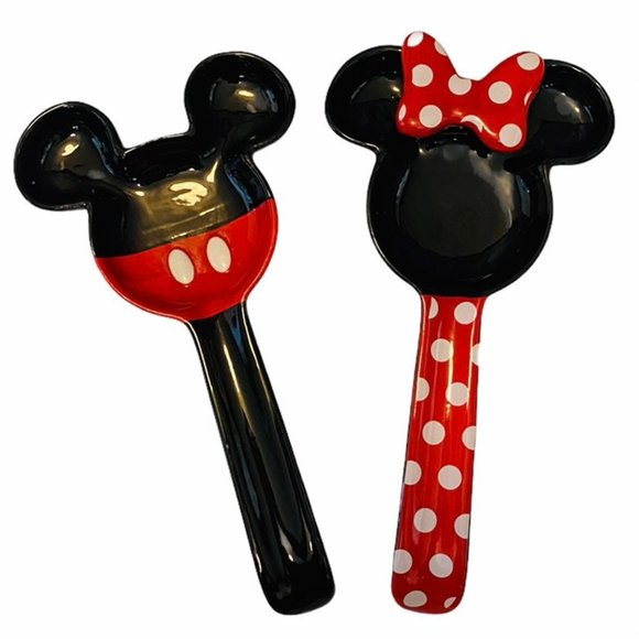 Mickey & Minnie Mouse Spoon Rest Set